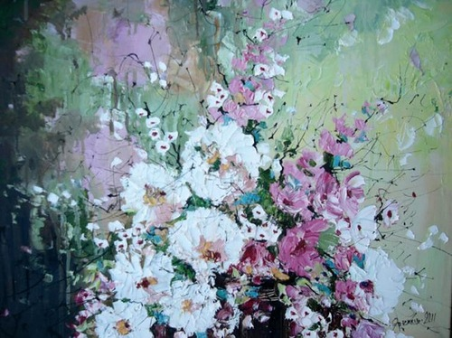 Wild Flowers. Painting by Ukrainian artist Michael Yaremkiv