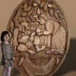 Wood carving by Russian artist Peter Nosikov