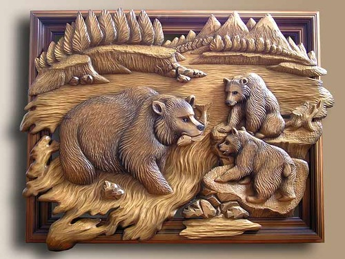 Wood Carving Art Wood carving by russian artist