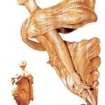 Oak wood carving