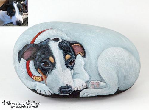 Ernestina Gallina stone painting