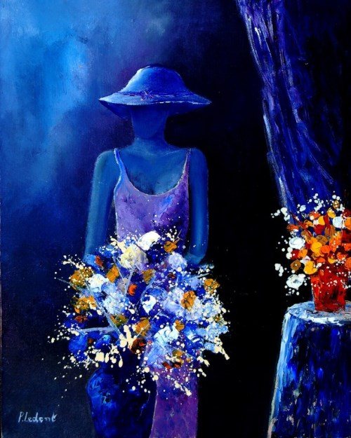 Colorful painting by Pol Ledent