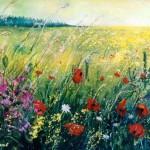 Summer flowers. Painting by Belgian self-taught artist Pol Ledent