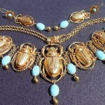 Gold tone Beatle necklace