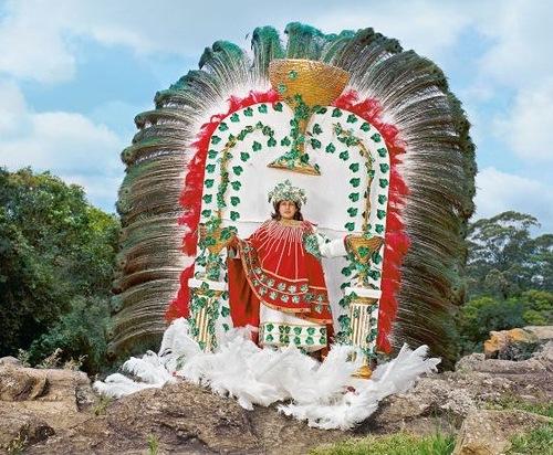 Beautiful fancy costume of Samba Queen, made in Posusje de Caldas