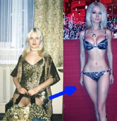 Lukyanova's miracle transformation or Photoshop