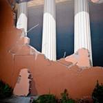 Columns. 3D mural by John Pugh