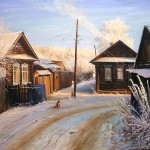 Realistic painting by Russian artist Vyacheslav Palachev