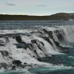The river Oxara forms a waterfall at the Almannagja, called Oxararfoss