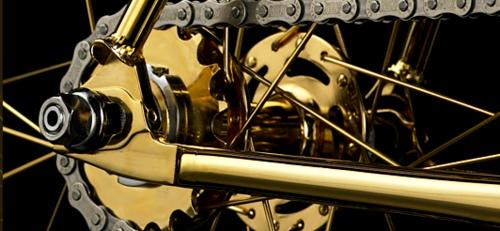 Golden Bike Aurumania - the most expensive bike in the world, released by Denmark-based company Aurumania