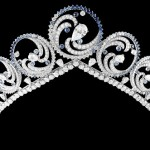 The Ocean Tiara, a gift from Prince Albert of Monaco to his wife, Charlene Wittstock, for their 2011 wedding