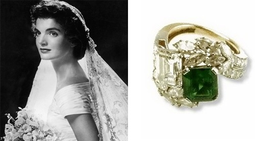 Jacqueline Kennedy's engagement Ring. Price: $1.5 million