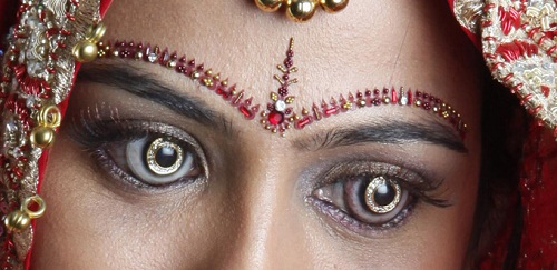 Diamond encrusted lenses. Shekhar Eye Research Center, India