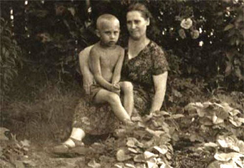 Putin with his mother. July 1958. Family Album of Putin