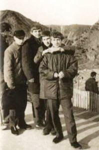 In 1969, traveled to Tbilisi to compete in judo. Putin - second from left.