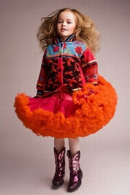 Beautiful Anastasia Bezrukova 8 year-old model