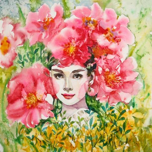 Audrey Hepburn by Ryu Eunja