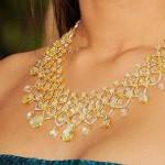 Gold an precious stones necklace