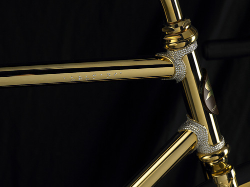 Golden Bicycle Aurumania - the most expensive bike in the world, released by Denmark-based company Aurumania