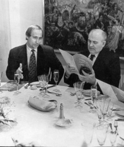 Putin and Gorbachev