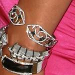 Halle Berry wearing Beaded bangle Bracelet