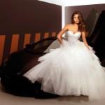 In a bridal dress, Irina Shayk