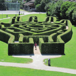 a maze in the form of a giant outstretched palm