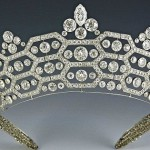 The spectacular Greville Tiara, left to the Queen's mother by society hostess Mrs Ronnie Greville