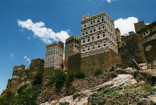 Al Hajjara town in Al Bayda Governorate, Yemen