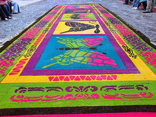 Beauty will save colorful street carpets alfombras for Alfombras de antigua