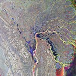 Another image of the Lena delta in Russia, with false-colors highlighting different sediments