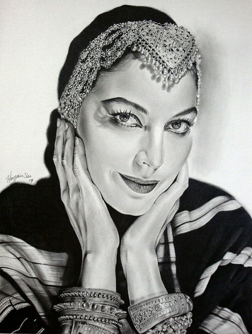 Ava Gardner. celebrities by Michelle Seo