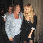 Beautiful couple - Mickey Rourke and Elena Kuletskaya