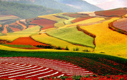 Beautiful landscape of Dongchuan in the Wumeng Mountainous area, China