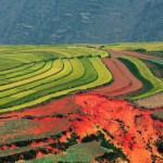 Picturesque sky over the Dongchuan in the Wumeng Mountainous area, China