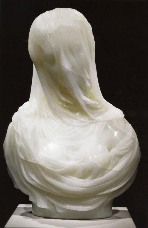 Bust of a Veiled Woman (Puritas) 1717 - 1725. Museo del Settecento Veneziano, Ca' Rezzonico, Venice, Italy. Sculpture, Marble. Done by Antonio Corradini