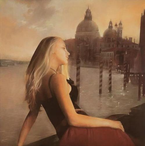 Female beauty in Painting by Italian artist Antonio Sgarbossa