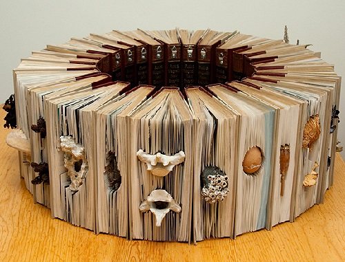 Spectacular altered books by Canadian artist Rachael Ashe