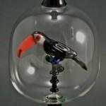 Glass work by American artist Kiva Ford
