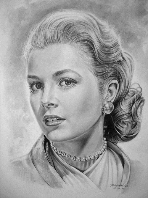 Grace Kelly. celebrities by Michelle Seo