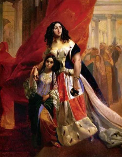 Karl Bryullov muse Countess Yulia Samoilova
