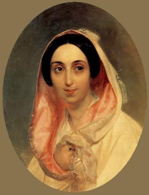 Portrait of Princess A.A.Bagration. 1849