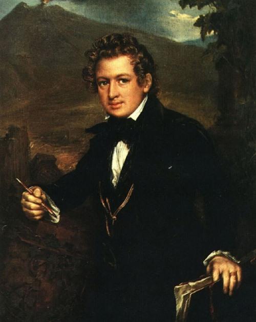 Vasily Tropinin. Portrait of the artist Karl Bryullov. 1836