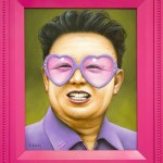 Pink portraits of politicians by Florida based artist Scott Scheidly