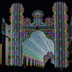 Colorful and beautiful Light installation by Italian lighting experts Luminarie De Cagna, Licht Festival in Ghent, Belgium