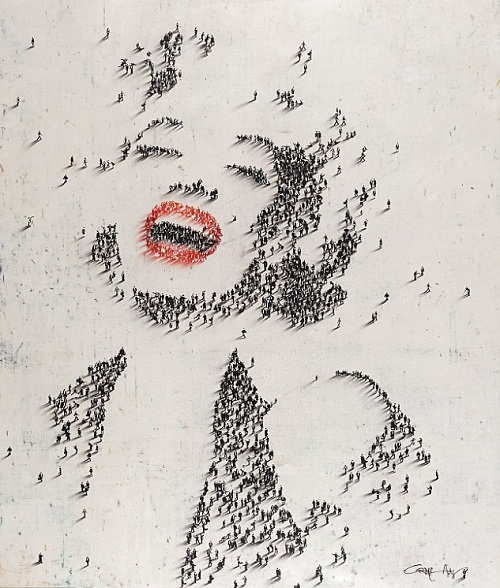 Marilyn Monroe. crowd Photography by Alan Craig