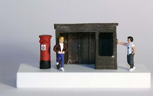 Miniature sculptures by British sculptor Nic Joly