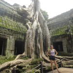 Natalie Glebova in Angkor, Cambodia