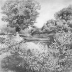 Clouds. Pencil drawing, artist Denis Chernov