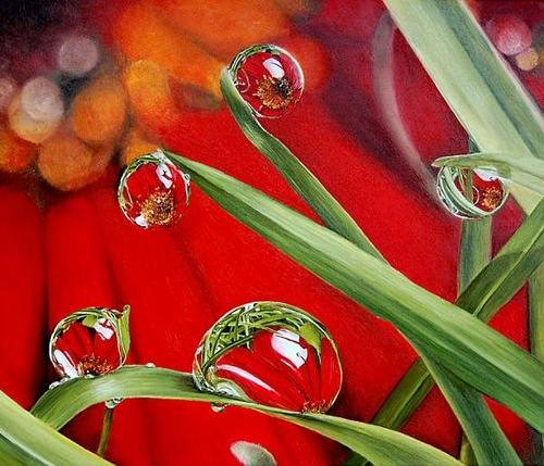 Realistic oil painting by French artist Marie Claire